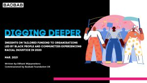 BAOBAB's Digging Deeper Report: Insights on tailored funding to organisations led by black people and communities experiencing racial injustice in 2020